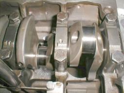 Albero motore montato su basamento