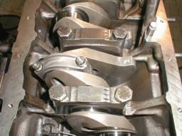 Albero motore montato su basamentoS