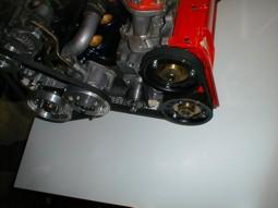 Panoramica motore lato distribuzione